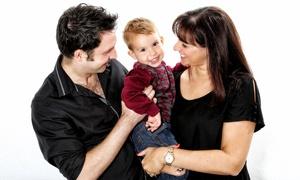 Capture Photographic Studios: Family Photoshoot With Four Prints for £19 at Capture Photographic Studios (88% Off)