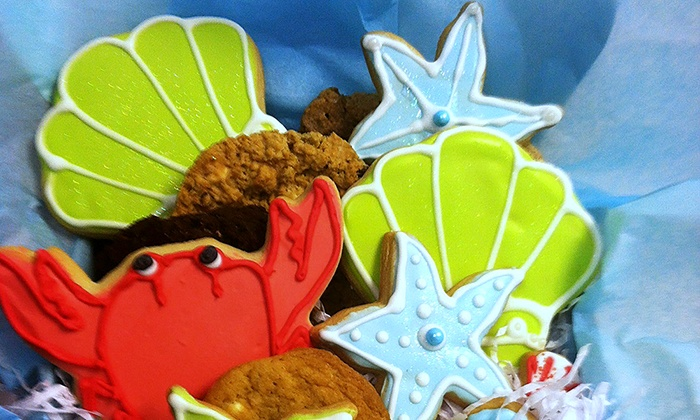 The Treasured Cookie - Aberdeen: Custom Cookie Gift Box or Cake at The Treasured Cookie (50% Off). Two Options Available.
