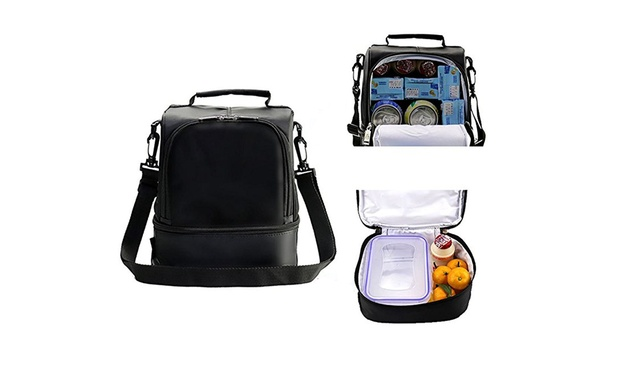 Insulated Thermal Picnic Lunch Shoulder Bag: One ($19.95) or Two ($35)