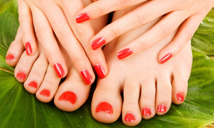 Safari Salon - Hewlett: One or Three Mani-Pedis, or Three Manicures or Pedicures at Safari Salon (Up to 61% Off)