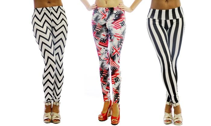 Dinamite Women's Printed Leggings: Dinamite Women's Printed Leggings. Multiple Options Available. Free Returns.