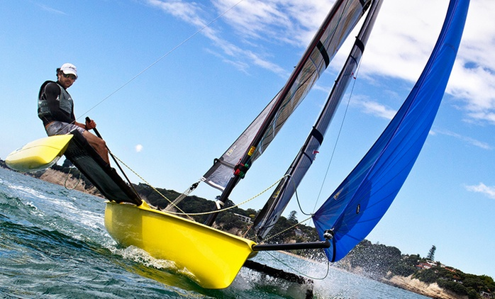 One-Hour Catamaran Sailing Lesson for Two ($45) or Three ($67) at Meltemi Catamaran Sailing School (Up to $135 Value)