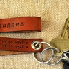 Up to 71% Off Leather Latitude-Longitude Key Chains