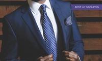Maßanzug oder Maßanzug mit Maßhemd und Krawatte im Atelier für Maßmode (bis zu 40% sparen*)
