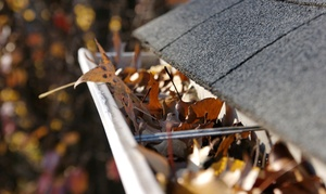 J and E Home Services: Gutter Cleaning for Homes Up to 3,000 or 4,000 Square Feet from J and E Home Services (Up to 56% Off)