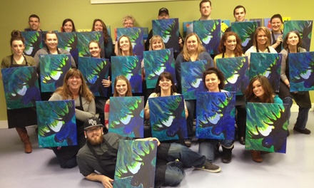 TwoHour Adult Painting Class for Two or Four at Arctic Crown Canvas (Up to 41% Off)
