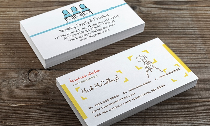 Ink garden 50 100 250 or 500 double sided business cards