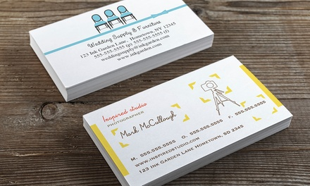 50, 100, 250, or 500 DoubleSided Business Cards from Ink Garden (Up to Half Off)