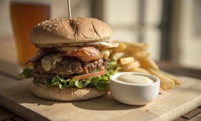 image for Burger, Fries and a Drink for Two or Four at The Filling Station Smokehouse (Up to 48% Off)