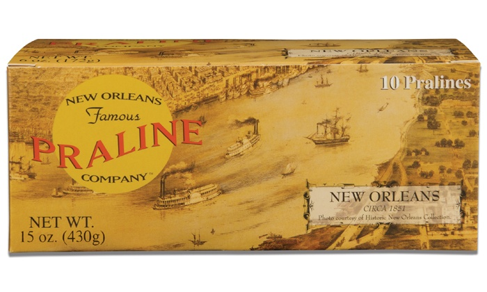 New Orleans Famous Praline Company: One or Two Boxes of 10 Original Pralines from New Orleans Praline Company (Up to 50% Off)