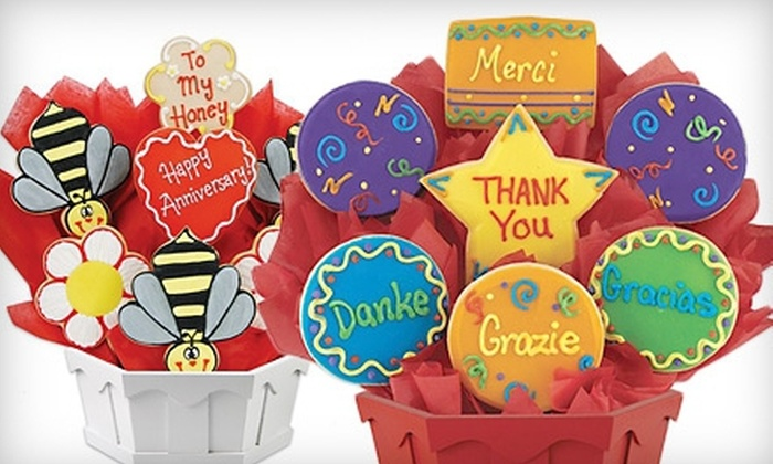 Cookies By Design - North Central: Cookies and Cookie Bouquets at Cookies By Design (Half Off). Two Options Available.