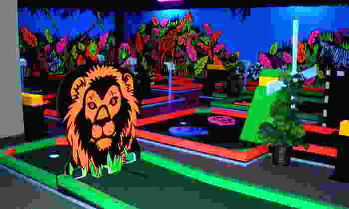 Glowgolf - Syracuse: Three Rounds of Indoor Glow-in-the-Dark Mini Golf for Two, Four, or Six at Glowgolf (Up to 58% Off)