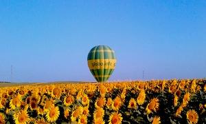 Green Aeroestación: Paga 9 € por un descuento de 60 € en un paseo en globo con desayuno marismeño