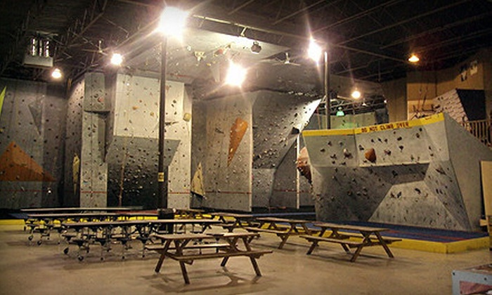Dyno-Rock Climbing Center - Arlington: All-Day Rock Climbing with Shoe and Harness Rental for Two or Four at Dyno-Rock Climbing Center (53% Off)