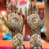 Henna on One Hand Front and Back