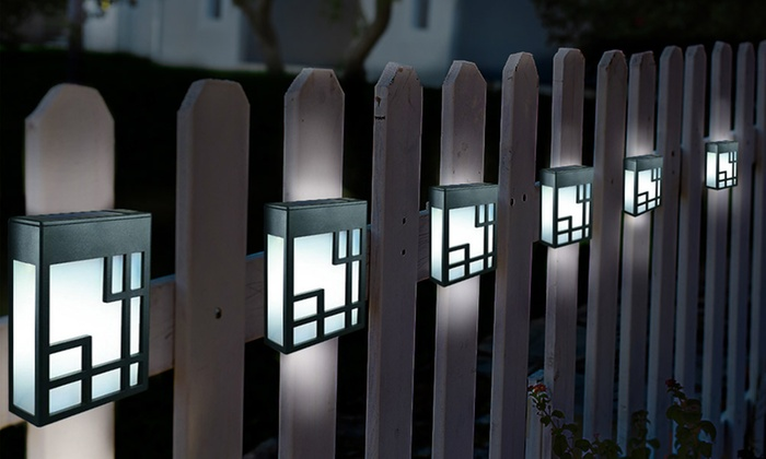 Globrite Solar Fence Lights Groupon