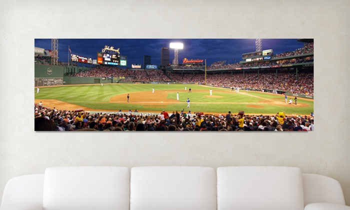 Baseball Stadium Panoramic Gallery-Wrapped Canvas: $75 for a Baseball Stadium Gallery-Wrapped Canvas ($170 List Price). 17 Options Available. Free Shipping and Returns.