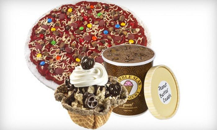 Marble Slab Creamery - Amarillo: $5 for $10 Worth of Mini-Waffle Bowl Sundaes, Ice-Cream Pizzas, and Quarts of Ice Cream at Marble Slab Creamery