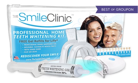 $19 for a Take-Home Teeth-Whitening Kit with Gel Refills for Life from The Smile Clinic ($123.90 Value)