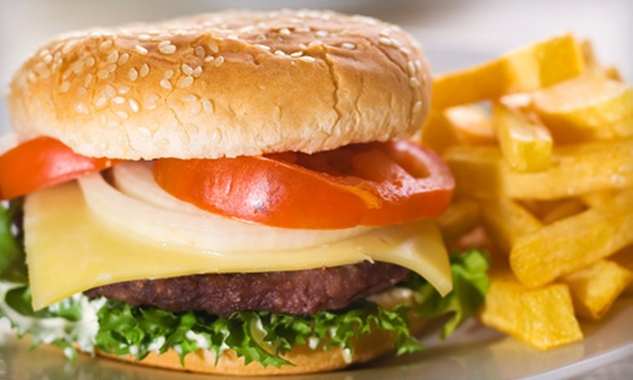 The Shack Hometown Grill - Fairfield: Burger or Fish 'n' Chips Meal for Two or Four with Sides and Beer at The Shack Hometown Grill (Up to 58% Off)