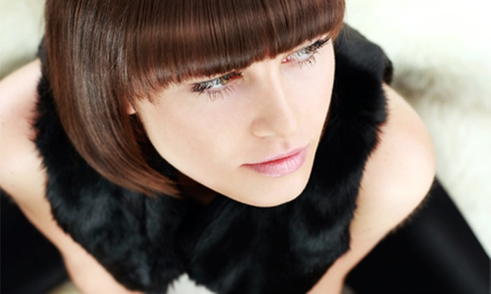 EuroTouch Salon & Spa - Franklin: Haircut with Options for Single-Process Color or Partial or Full Highlights at EuroTouch Salon & Spa (Up to 61% Off)