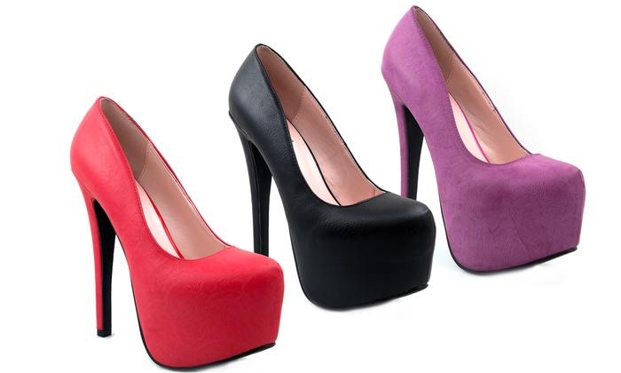 Violet Platform Heel