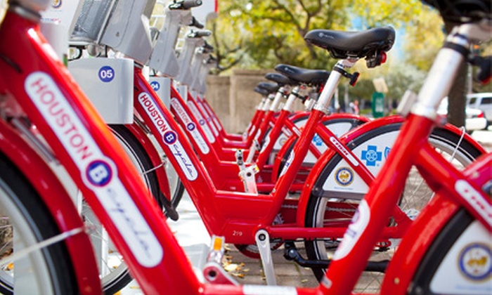 Houston B-cycle - Houston: Annual Membership for One or Two to Houston B-cycle (Up to 58% Off)