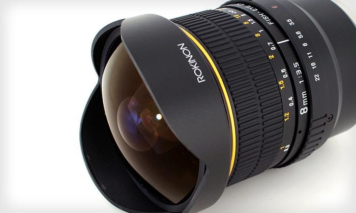 Rokinon Fisheye Camera Lenses: Rokinon 8mm f/3.5 Fisheye Camera Lenses (Up to 35% Off). Five Options Available. Free Shipping and Free Returns.