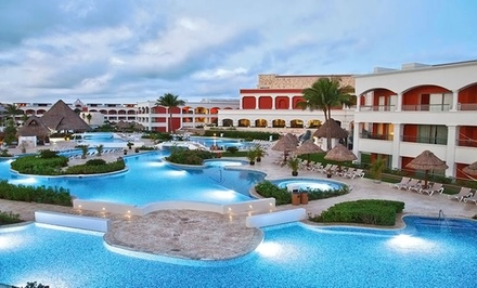 groupon daily deal - ✈ All-Inclusive Hard Rock Riviera Maya Trip w/ Air. Includes Taxes and Fees. Price per Person Based on Double Occupancy.