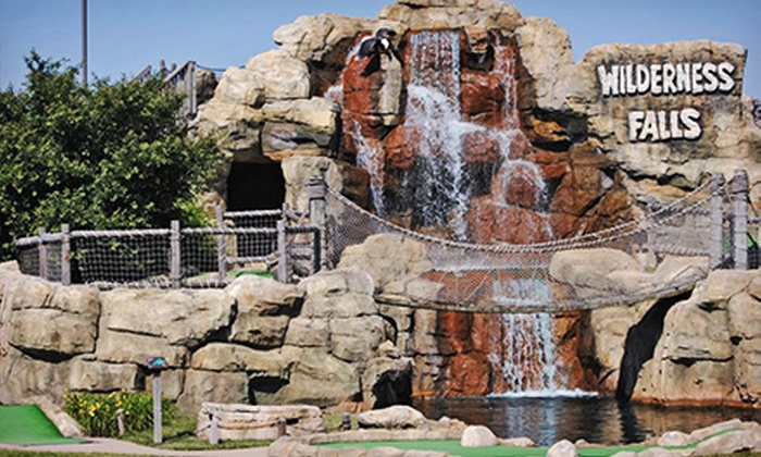 Wilderness Falls - Bolingbrook: Mini-Golf and Batting-Cage Outing for 2 Adults, or Birthday Party for Up to 12 Kids at Wilderness Falls (Up to 51% Off)