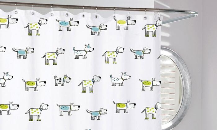 Doggi Dog Print Shower Curtain