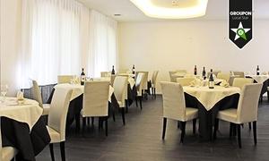 Hotel Cristallo: Menu con portate a scelta e vino e in più area benessere, massaggio e day room (sconto fino a 72%)