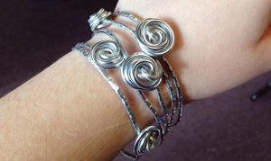 The Bead Place: Rose Bangle Bracelet-Making Class for One or Two at The Bead Place (Up to 52% Off)