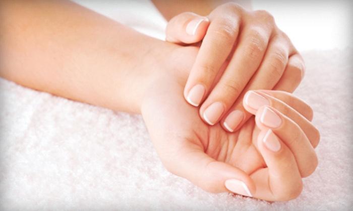 Salon D'va - Brownsburg: Shellac Manicure with Paraffin Treatment or One or Three Mani-Pedis at Salon D'va (Up to 53% Off)