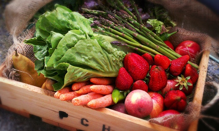 Pacific Coast Harvest: $17 for One Regular Box of Organic Delivered Produce from Pacific Coast Harvest ($34 Value)
