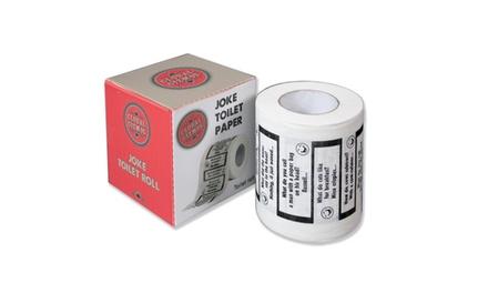 Two £4.99, Six £9.98 or Twelve £15.98 Global Gizmos Joke Toilet Rolls in Gift Box