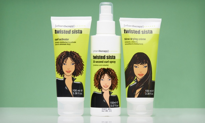 Twisted Sista Haircare 3-Pack: Twisted Sista Haircare 3-Pack with Curl Activator, Straightening Blow Dry Cream, and 30 Second Curl Spray