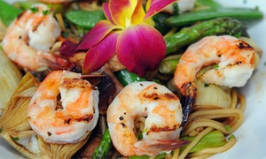 Asian Fin Restaurant: Asian-Fusion Dinner and Drinks at Asian Fin Restaurant (Up to 40% Off)