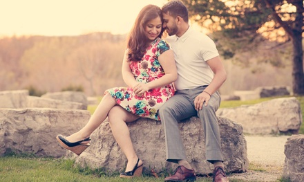 Engagement, Silver, or Gold Wedding Photo Packages from Purple Canvas Photography (Up to 61% Off)