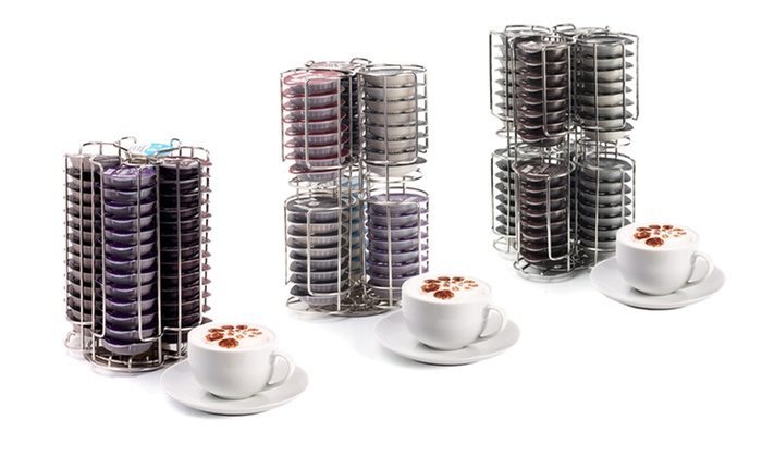 tassimo chrome coffee pod holder groupon goods. Black Bedroom Furniture Sets. Home Design Ideas