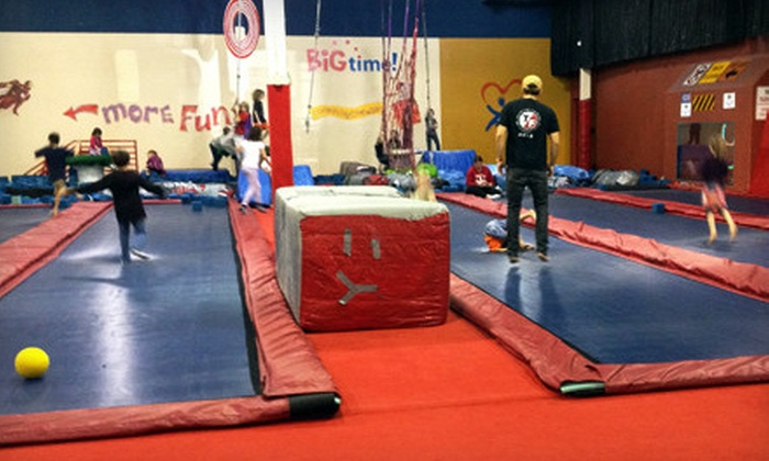 Big Time Trampoline Fun Center - I-70 Corridor: Two Hours of Jumping for Two or Four at Big Time Trampoline Fun Center (Up to 66% Off)