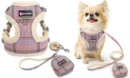 Pet Vest Harness Leash Set for Small and Medium Dogs: One $16 or Two $26