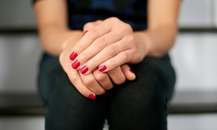 Shellac Manicure, Regular Pedicure, or Both at The Pampered Hathi (Up to 53% Off)
