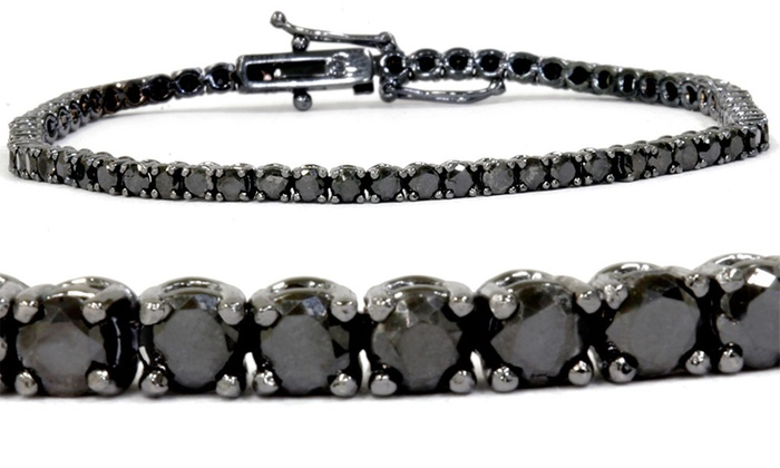 3 00 Cttw Black Diamond Tennis Bracelet In 14k Gold