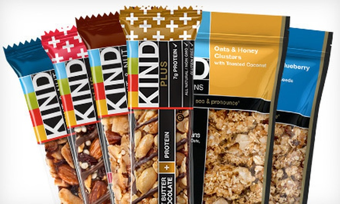 KIND: $10 for $25 Toward KIND Bars and Healthy Grains from KIND