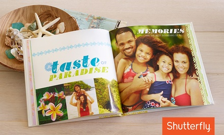 8x8, 8x11, or 10x10 Custom Photo Book from Shutterfly (Up to 67% Off)