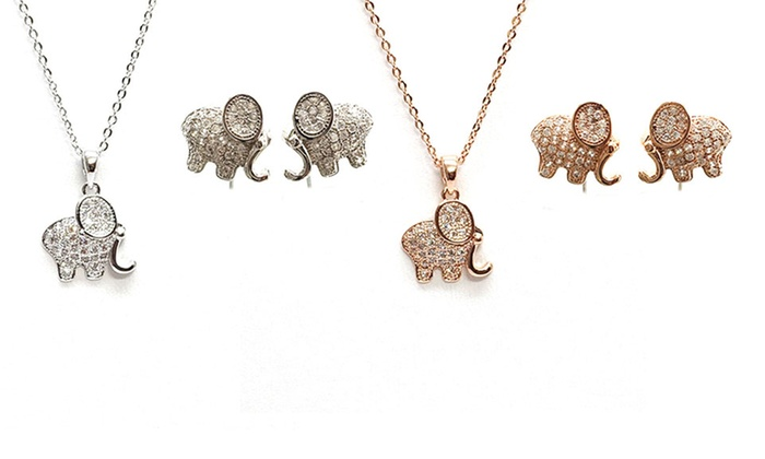 10843dff98e46 Elephant Jewelry Set | Groupon Goods