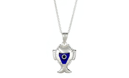 Evil Eye Pendants in Sterling Silver