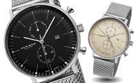 GROUPON: Akribos XXIV Men's Swiss Multifunction Bracelet Watch Akribos XXIV Men's Swiss Multifunction Bracelet Watch