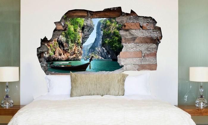 Adesivo 3d per testata letto groupon goods for Poster decorativi per pareti